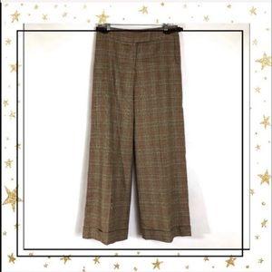Lilly Pulitzer Plaid Wide leg dress pants     (C5)